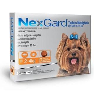 Antipulgas e Carrapatos Merial NexGard 11.3 mg para Cães de 2 a 4 Kg