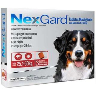 Antipulgas e Carrapatos Merial NexGard 136 mg para Cães de 25.1 a 50 Kg