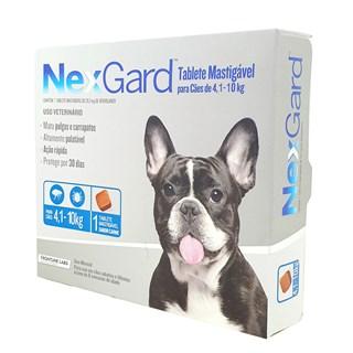 Antipulgas e Carrapatos Merial NexGard 28.3 mg para Cães de 4.1 a 10 Kg