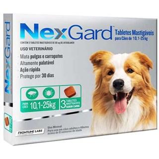 Antipulgas e Carrapatos Merial NexGard 68 mg para Cães de 10.1 a 25 Kg