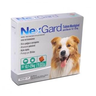 Antipulgas e Carrapatos Merial Nexgard Para Cães De 10.1 a 25kg