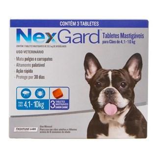 Antipulgas e Carrapatos Merial Nexgard Para Cães De 4.1 a 10kg