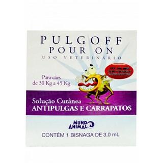 ANTIPULGAS E CARRAPATOS MUNDO ANIMAL PULGOFF POUR ON PARA CãES DE 30 A 45KG