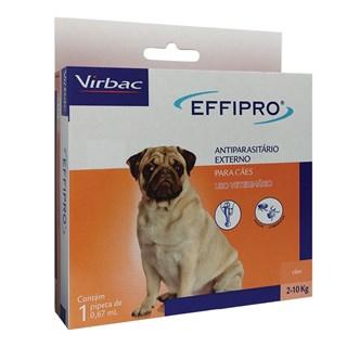 Antipulgas e Carrapatos Virbac Effipro 0.67 mL para Cães de 2 até 10 Kg