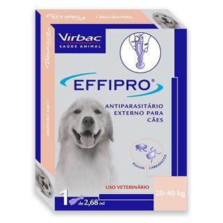 Antipulgas e Carrapatos Virbac Effipro 2.68 mL Cães de 20 até 40 Kg