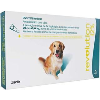 Antipulgas e Carrapatos Zoetis Revolution 12% Para Cães