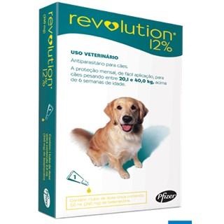 Antipulgas e Carrapatos Zoetis Revolution 12% Para Cães De 20.1 a 40kg