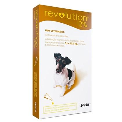 Antipulgas e Carrapatos Zoetis Revolution 12% Para Cães De 5.1 a 10kg