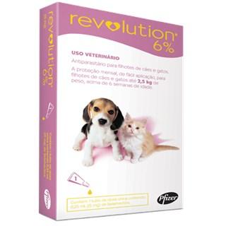 Antipulgas e Carrapatos Zoetis Revolution 6% Para Cães e Gatos Até 2.5kg