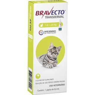 Antipulgas MSD Bravecto Transdermal para Gatos de 1.2 a 2.8 Kg
