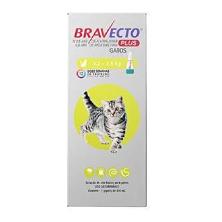 Antipulgas MSD Bravecto Transdermal Plus para Gatos de 1,2 a 2,8 Kg