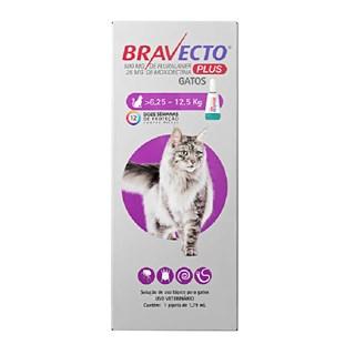 Antipulgas MSD Bravecto Transdermal Plus para Gatos de 6,25 a 12,5 Kg