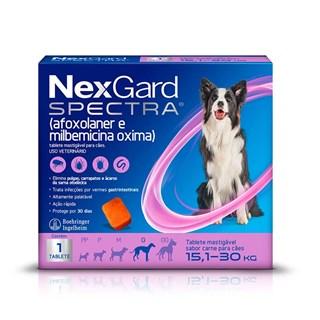 Antipulgas NexGard Spectra para Cães de 15.1 a 30kg