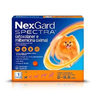 Antipulgas NexGard Spectra para Cães de 2 a 3.5kg