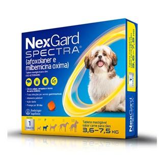 Antipulgas NexGard Spectra para Cães de 3.6 a 7.5kg