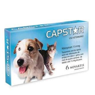 Antipulgas Novartis Capstar 11 mg para Cães e Gatos até 11.4 Kg
