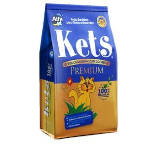 Areia Sanitaria Alfa Pet Kets Premium Para Gatos e Mascotes