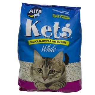 Areia Sanitária Alfa Pet Kets White Para Gatos