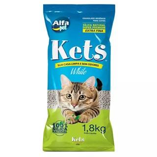 Areia Sanitária Sílica Kets White Sensitive para Gatos