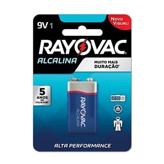 Bateria Rayovac Alcalina 9v para Aparelhos