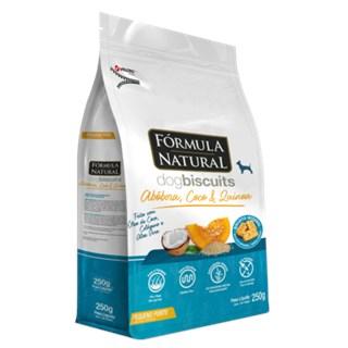 Biscoito Fórmula Natural Dog Biscuits para Cães de Adultos de Médio e Grande Porte Sabor Abóbora 250g
