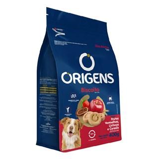 Biscoito Origens Premium Sabor Frutas Vermelhas, Linhaça e Cereais para Cães Adultos
