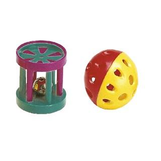 Brinquedo Ferplast Bola e Cilindro Para Gatos