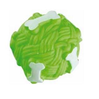 Brinquedo Jolitex Homepet Bola Ossos De Vinil Verde Para Cães