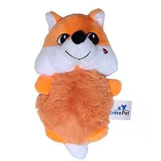 Brinquedo Jolitex Homepet Raposa Laranja De Pelúcia Para Cães