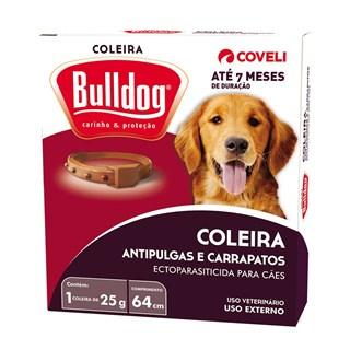 Coleira Antipulgas e Carrapaticida Coveli Bulldog Para Cães De Raças Médias e Grandes