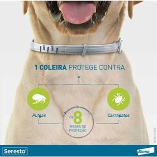 Coleira Antipulgas e Carrapatos Bayer Seresto Para Cães Acima De 8kg