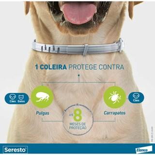 Coleira Antipulgas e Carrapatos Bayer Seresto Para Cães e Gatos Até 8kg