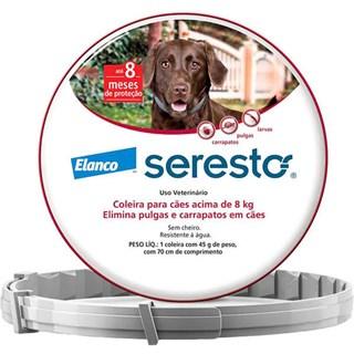 Coleira Antipulgas e Carrapatos Elanco Seresto para Cães acima de 8 Kg