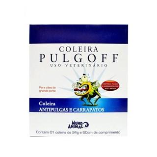 Coleira Antipulgas e Carrapatos Mundo Animal Pulgoff Para Cães - 60cm