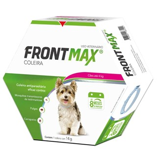 Coleira Antipulgas Frontmax para Cães de até 4kg