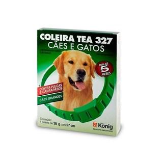 Coleira Antipulgas Konig Tea 327 para Cães de Raças Grandes