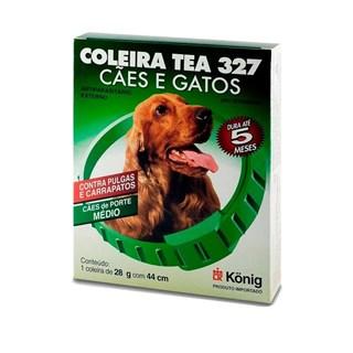 Coleira Antipulgas Konig Tea 327 para Cães de Raças Médias