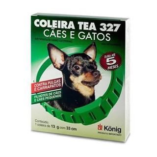 Coleira Antipulgas Konig Tea 327 para Cães de Raças Pequenas