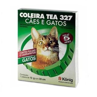 Coleira Antipulgas Konig Tea 327 para Gatos