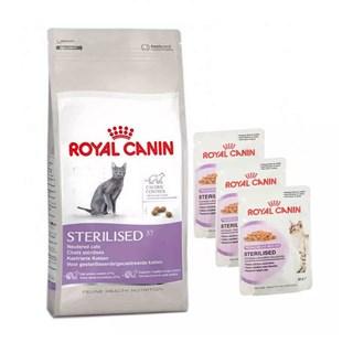 COMBO RAçãO ROYAL CANIN FELINE HEALTH NUTRITION STERILISED PARA GATOS ADULTOS CASTRADOS