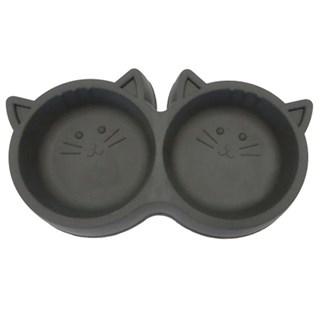 Comedouro Duplo Pet Injet Luxo Para Gatos - 250ml