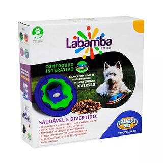 Comedouro Interativo Truqys Pets Labamba Food Azul