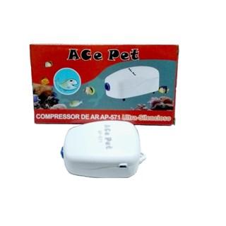 Compressor De Ar Ace Pet Ap-571 Para Aquários