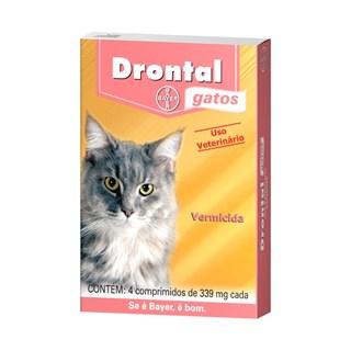 Drontal Gatos - 4 Comprimidos _ Vermífugo Bayer
