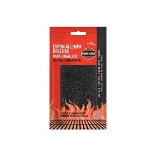 Esponja Limpa Grelha Prime Grill Fibra Ultra Abrasiva