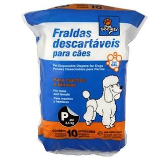 Fraldas Descartáveis Pet Society Para Cães - p