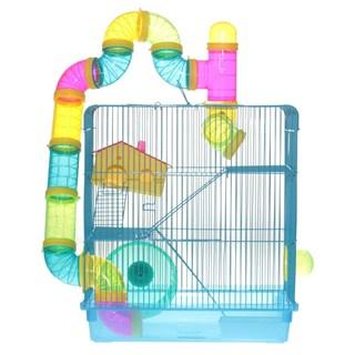 Gaiola American Pets Hamster 3 Andares Com Labirinto Para Roedores