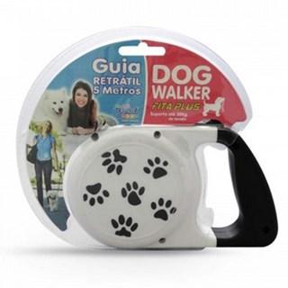 Guia Retrátil Pet Injet Dog Walker Para Cães Até 30kg - 5 Metros