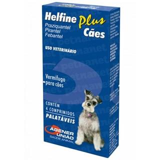 Helfine Plus Cães ? 4 Comprimidos _ Agener