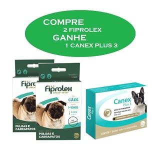 Kit Promocional Ceva Compre 2 Fiprolex e Ganhe 1 Canex Plus 3 Para Cães Até 10kg